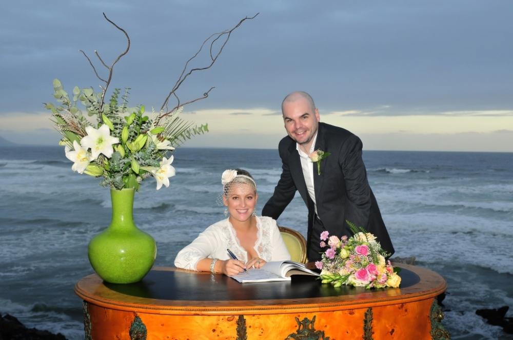 Just married! In Hermanus, Western Cape