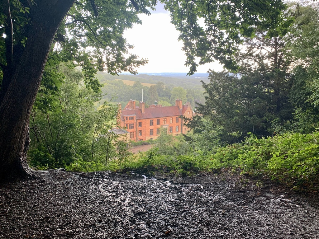 Chartwell during an evening storm after a long climb from Westerham in Kent